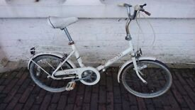 VINTAGE RALEIGH COMPACT FOLDING 3 SPEED BICYCLE ALL COMPLETE GARAGE FIND TLC EASY WINTER PROJECT