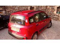 1.2 Litre 8 V Fiat Panda Red. £30.00 Tax Band.