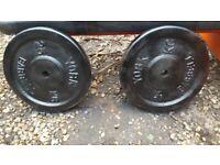 York weights 2 x 25 kg