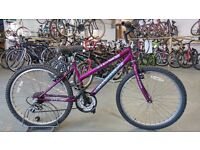 OLDER GIRLS INTEGRA PHANTOM BIKE 24 INCH WHEELS 18 SPEED PURPLE