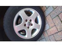 "Audi 16"" Alloys & tyres x4 loads of tread"