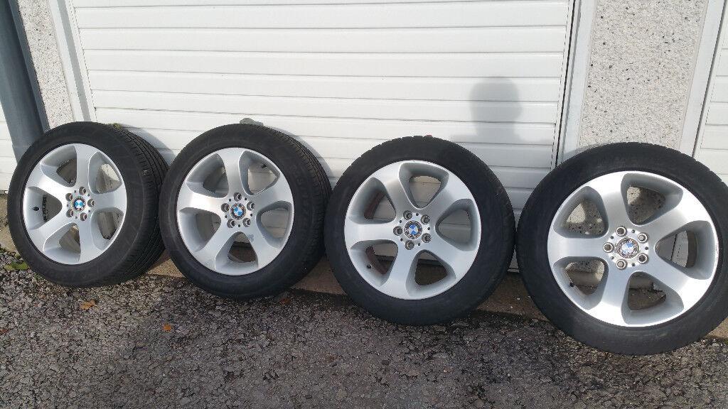 BMW 19 '' GENUINE alloy wheels + 4 x tyres 285 45 19/255 50 19