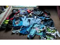 bundle of 29 items of boys clothes and shoes approx age 2-3