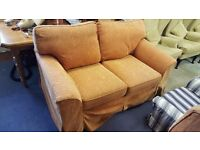 Orange Peach Three and Two-seater Sofas in Good Condition