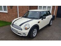 BMW MINI ONE 1.4L 57 PLATE 24500 MILES IMMACULATE PEPPER WHITE BLACK STRIPES & SIDE MIRRORS