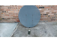 Satellite dish and lnb with for output