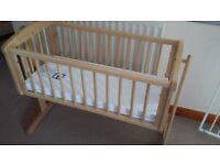 Mothercare crib with mattress and crib bumper