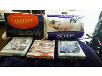 DOUBLE BED 13.5 TOG QUILT AND DOUBLE QUILT COVER(prices each individual)