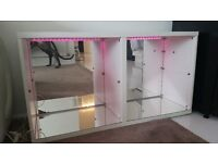 Led mood light changing Mirrored Display Cabinet