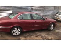jaguar x type 5 door red breaking all of the parts are available