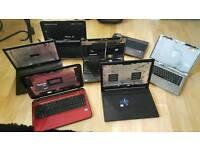 Joblot of laptops i3 i5 Spares or repairs 7 laptops Samsung HP Dell Stone Toshiba Sattelite Apple