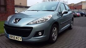 Peugeot 207 1.4L Verve in excellent condition only 38,000 mls and MOT Jan 2018