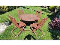 Folding garden table and chairs