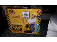 8cd78c4194e Electric toy digger complete with box and hat