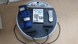 Vibrodisc power plate exercise machine