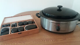 Full Professional Hot Stone Massage Kit with Full size Bed
