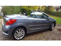 Stunning Peugeot 207cc 1.6 (Hardtop Convertible). 09 plate. Low mileage 48k. Graphite Grey.