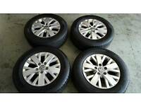 Volkswagon T5, Set of 4, 16 inch alloys. Immaculate condition with excellent tyres