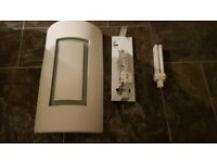 4 white plaster wall lights could be painted