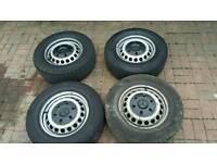 Mercedes sprinter/ crafter 6 stud steel wheel with tyre