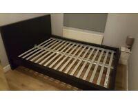 IKEA Malm Double bed frame black