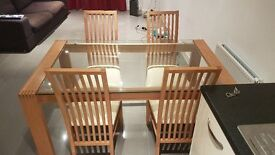 Four seater dining table perfect for London flat