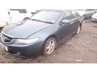 2005 HONDA ACCORD, 2.2 DIESEL, BREAKING FOR PARTS ONLY, POSTAGE AVAILABLE NATIONWIDE