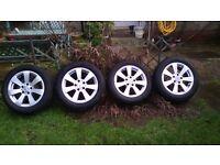 alloy wheels 5x112 205/55/r16 tyres ET 43 7jx16