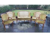 Genuine French Style Antique Vintage Sofa Armchairs and chairs set