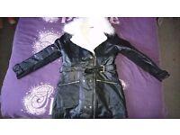 Size 16 leather coat