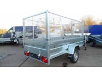 CAGE TRAILER 8,7FT X 4,2FT SINGLE AXLE CLASS 750KG FLATBED TIPPER HIGH CAGE