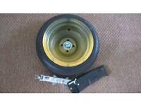 2002-2017 Honda Jazz Spare Wheel Tyre + Genuine Jack&Spanner never used
