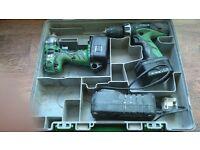 Hitachi Hammer drill and impac driver 14.4V