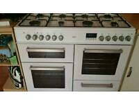 its a bush duel fuel rangs cooker model BCLU100DFW white only a year old