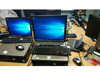 DELL OPTIPLEX 330 PC WITH KEYBOARD MOUSE AND MONITOR. THE PACKAGE