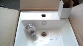 Brand New boxed bathroom basin + tap + pop up waste for sale