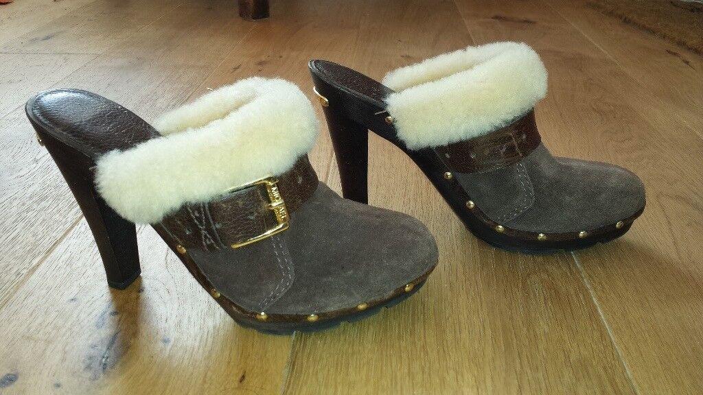 Michael Kors Suede & Sheepskin Women's Shoes (size 5)