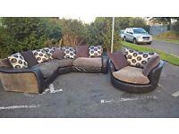 Corner Sofa and Love Seat