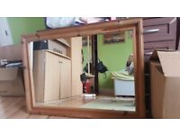 Solid large mirror
