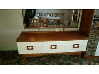 Retro bedroom suite consisting of two wardrobes and dressing table £100