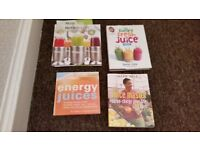 the juice master and job lot of other juice books.