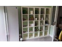 White Ikea Storage with 30 shelves