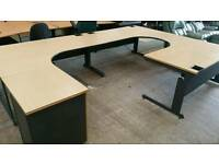 Beautiful curved office desks. Price is each
