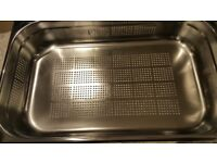 A new/ unused deep food steaming tray/ strainer for sale