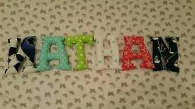Handmade Fabric Letters