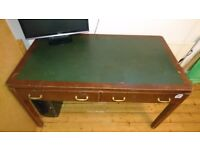 FREE traditional writing desk, wooden with green lino top