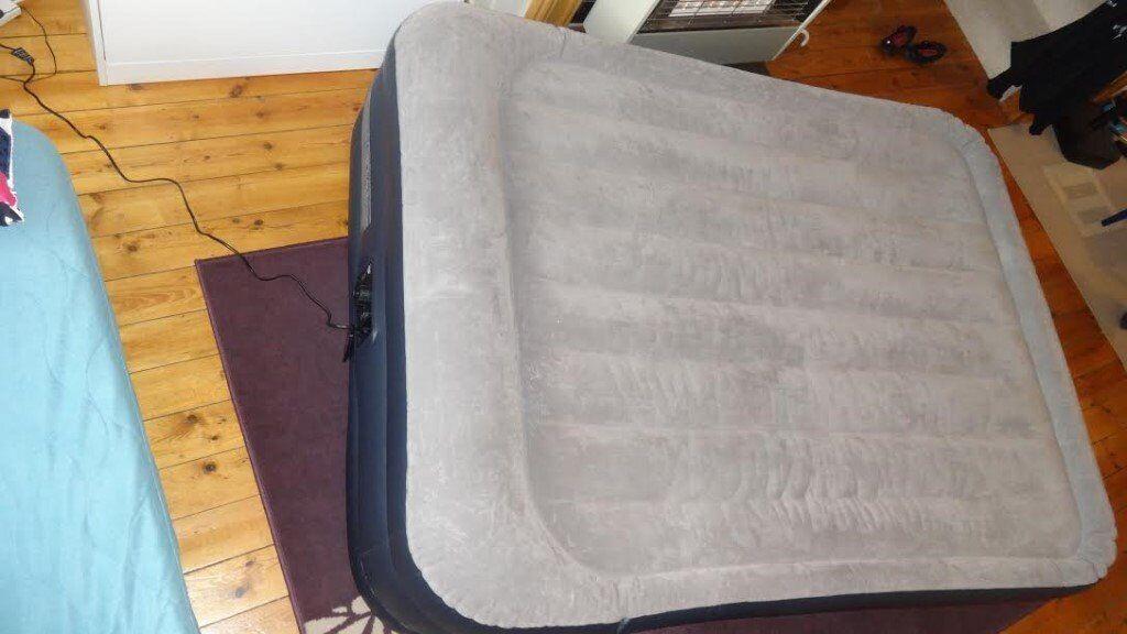 Intex Unisex Queen Deluxe Raised P 64136 Air Bed, Grey/Light Grey