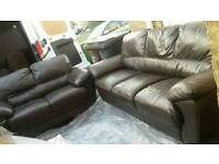 3+2seater leather sofas