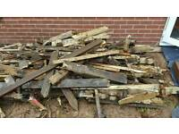 Used wood for fire or burner