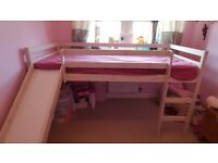 Brilliant children's bed with slide